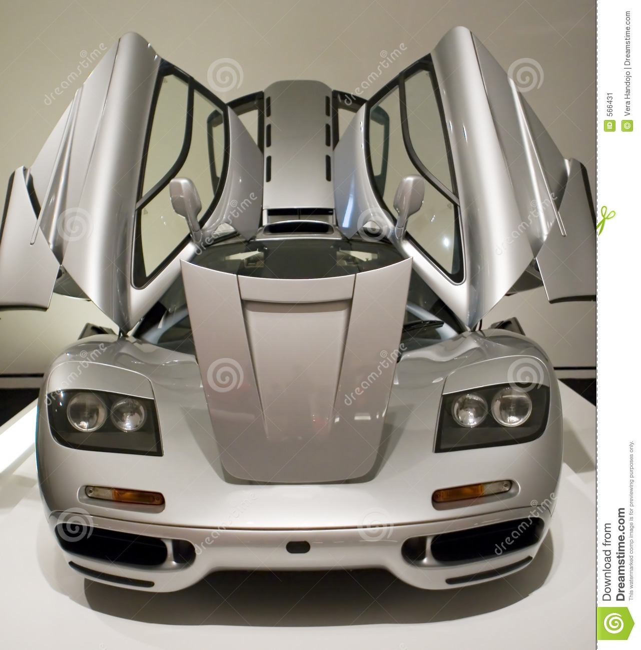 Sports Car With Doors Open Stock Image. Image Of