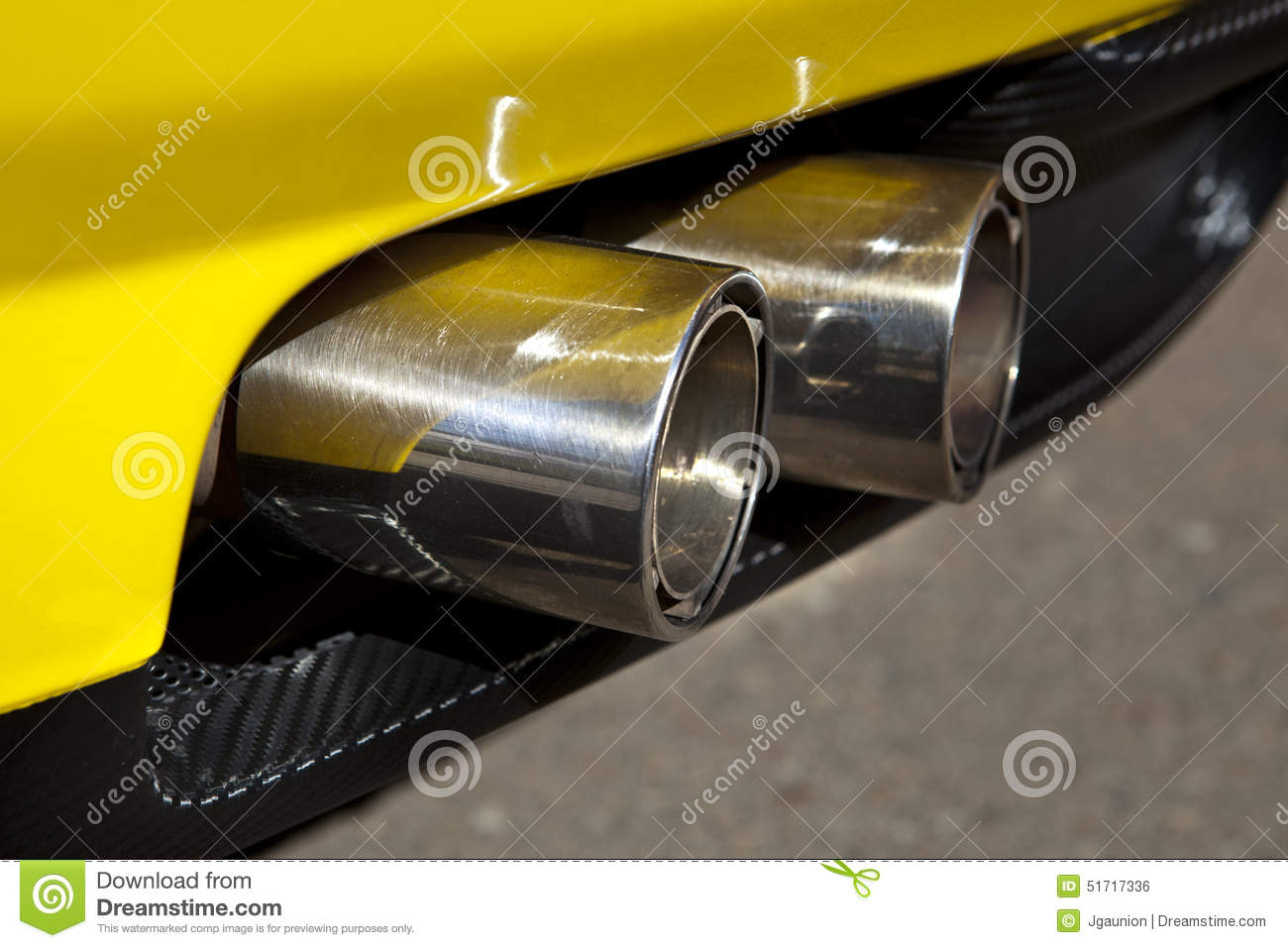 Sports Car Exhaust Pipe Stock Photo Image Of Colorful 51717336
