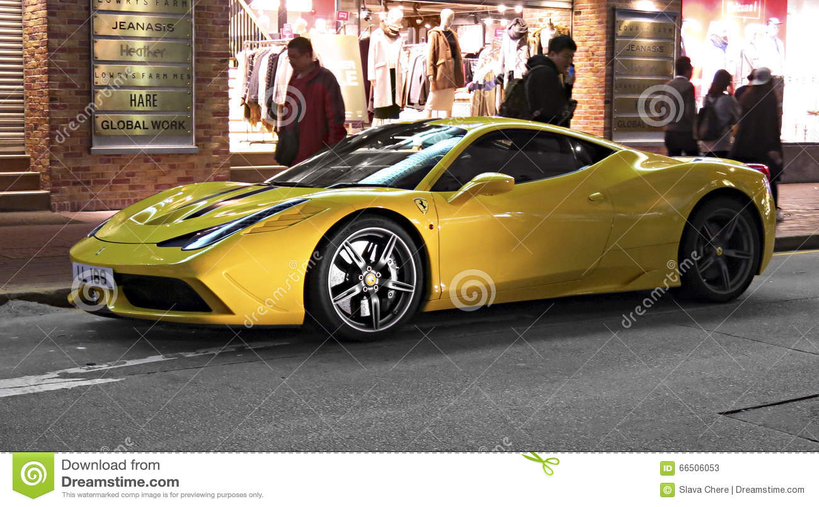 Sports Car Ferrari Editorial Stock Photo Image Of Evening 66506053