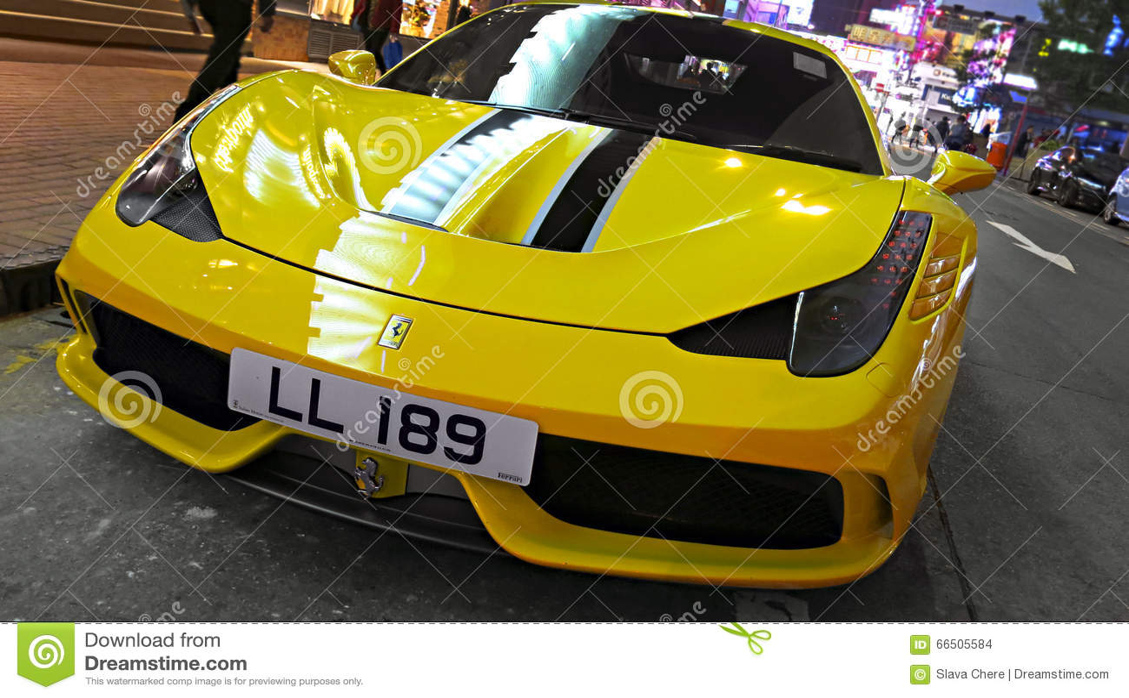 Sports Car Ferrari 458 Spider Editorial Stock Image Image Of Beautiful City 66505584