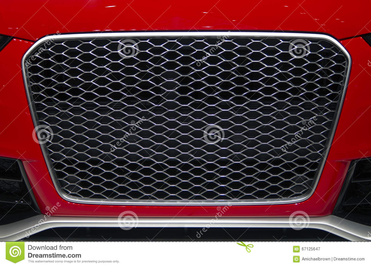 Sports Car Front Grill Stock Image Image Of Trim Audi