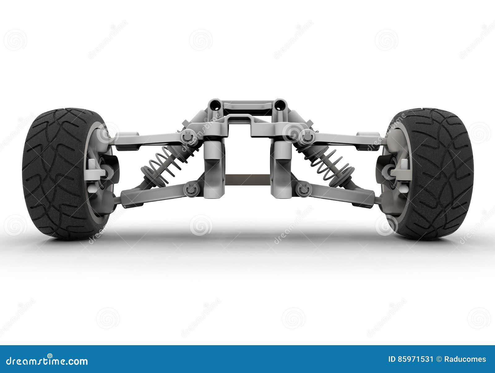 Sports Car Front Suspension Stock Illustration