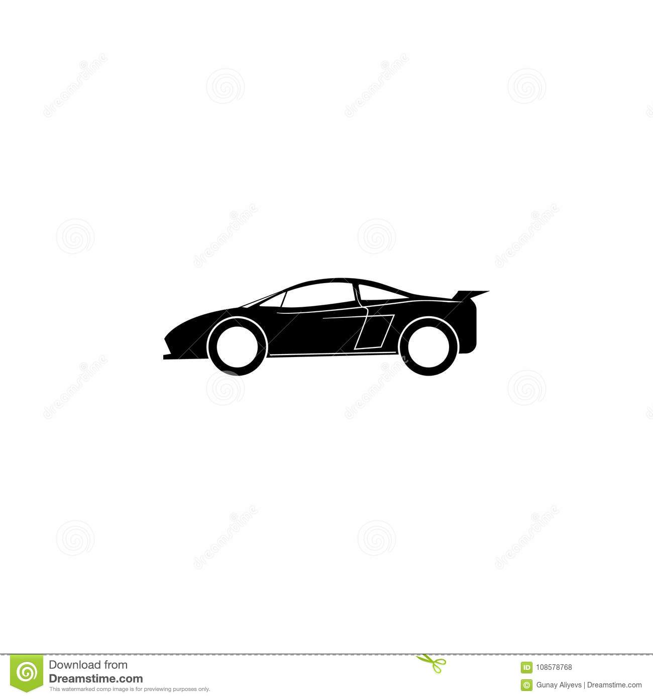 Sports Car Icon. Car Type Simple Icon. Transport Element Icon ...