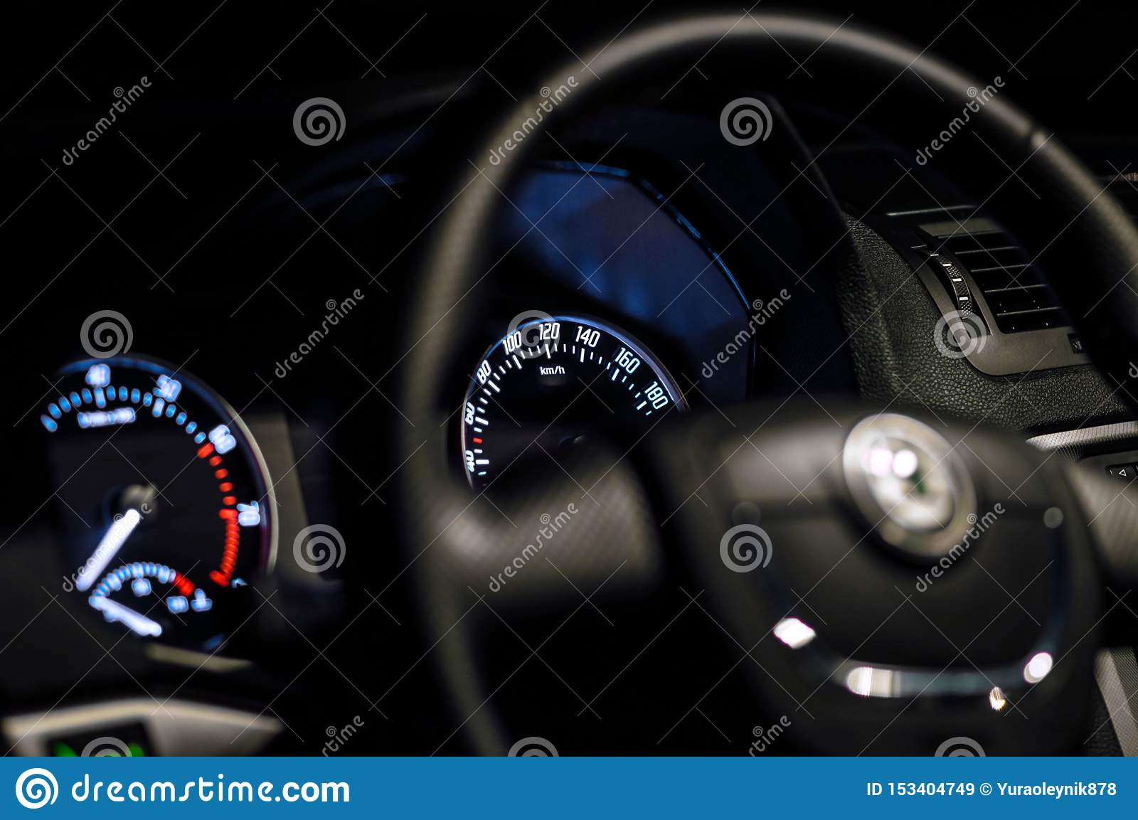 Car Inside Gray Seats Red Dashboard Night Photography In The Dark Stock Image Image Of Dark Shooting 153404749