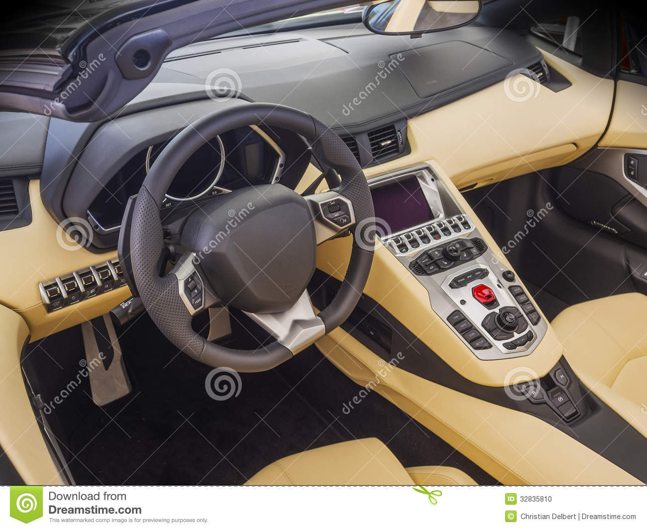 Sports Car Interior Stock Photo Image Of Control Modern