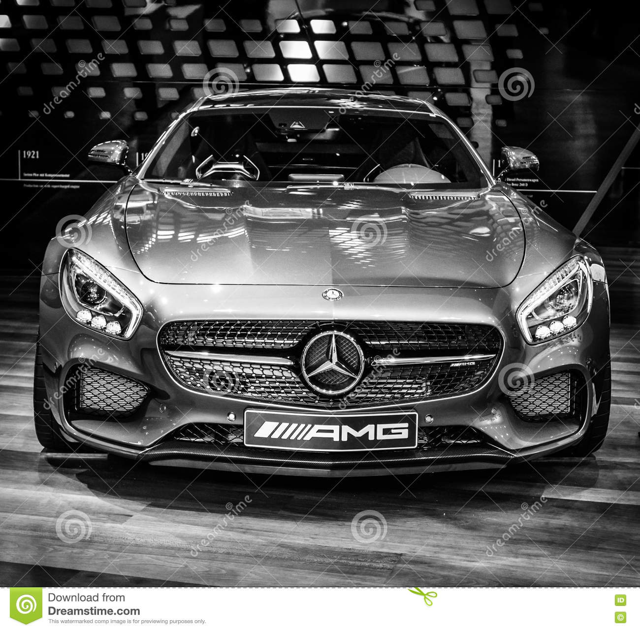 Sports Car Mercedes-AMG GT S Coupe (C190) Editorial