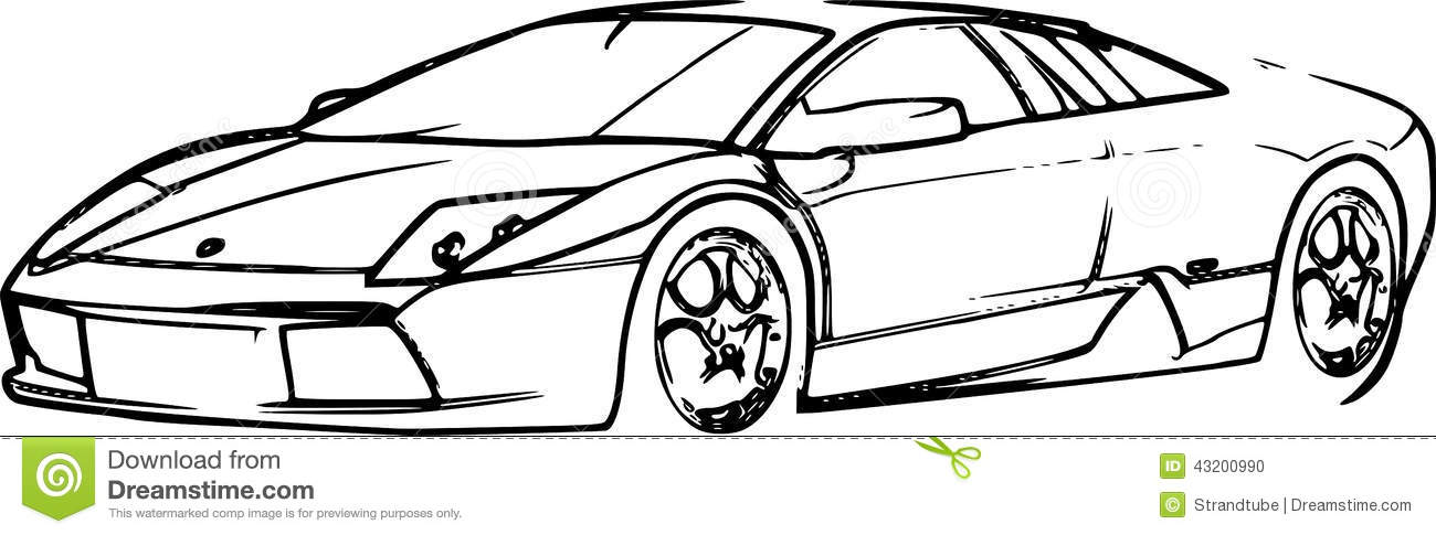 4 ways to draw a lamborghini wikihow - Sport Cars Drawings