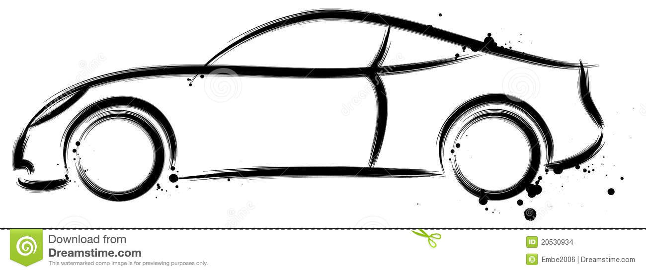 Car Profile Outline Sports car profile stock images - image: 20530934