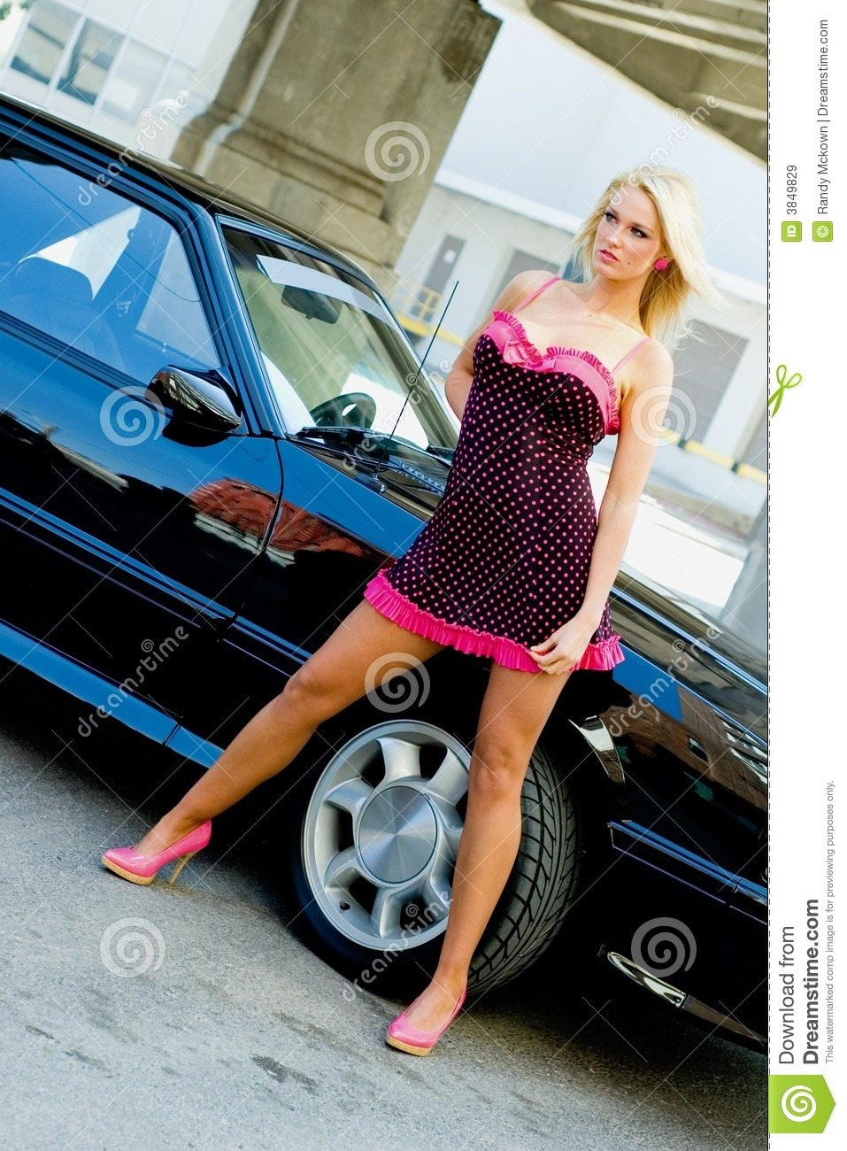 Sports Car Blonde stock photo. Image of glamour, girl