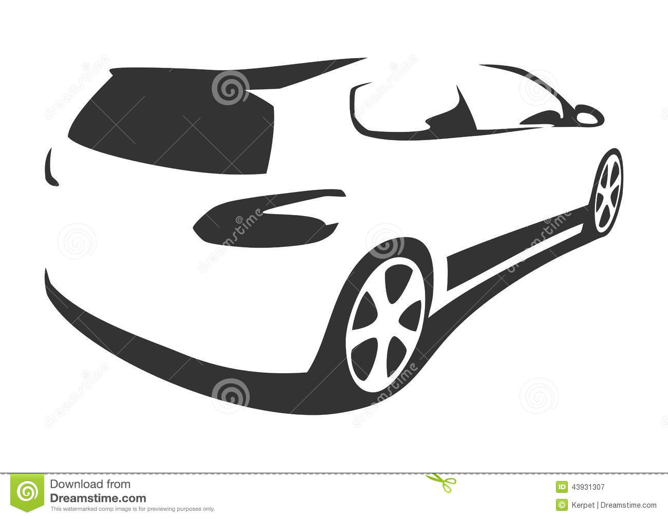 Sports car silhouette vector 14