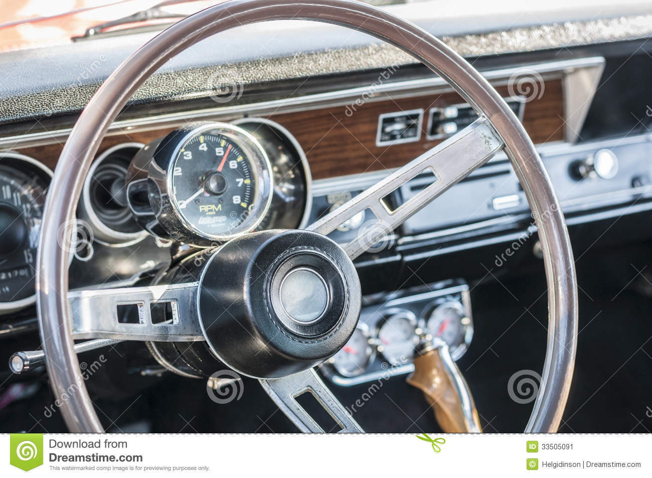Sports Car Steering Wheel Stock Image Image