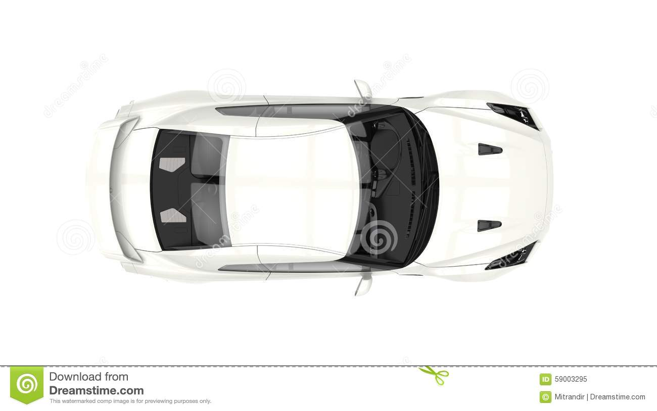 A Top And Side View Of A Sports Car Stock Vector Illustration Of