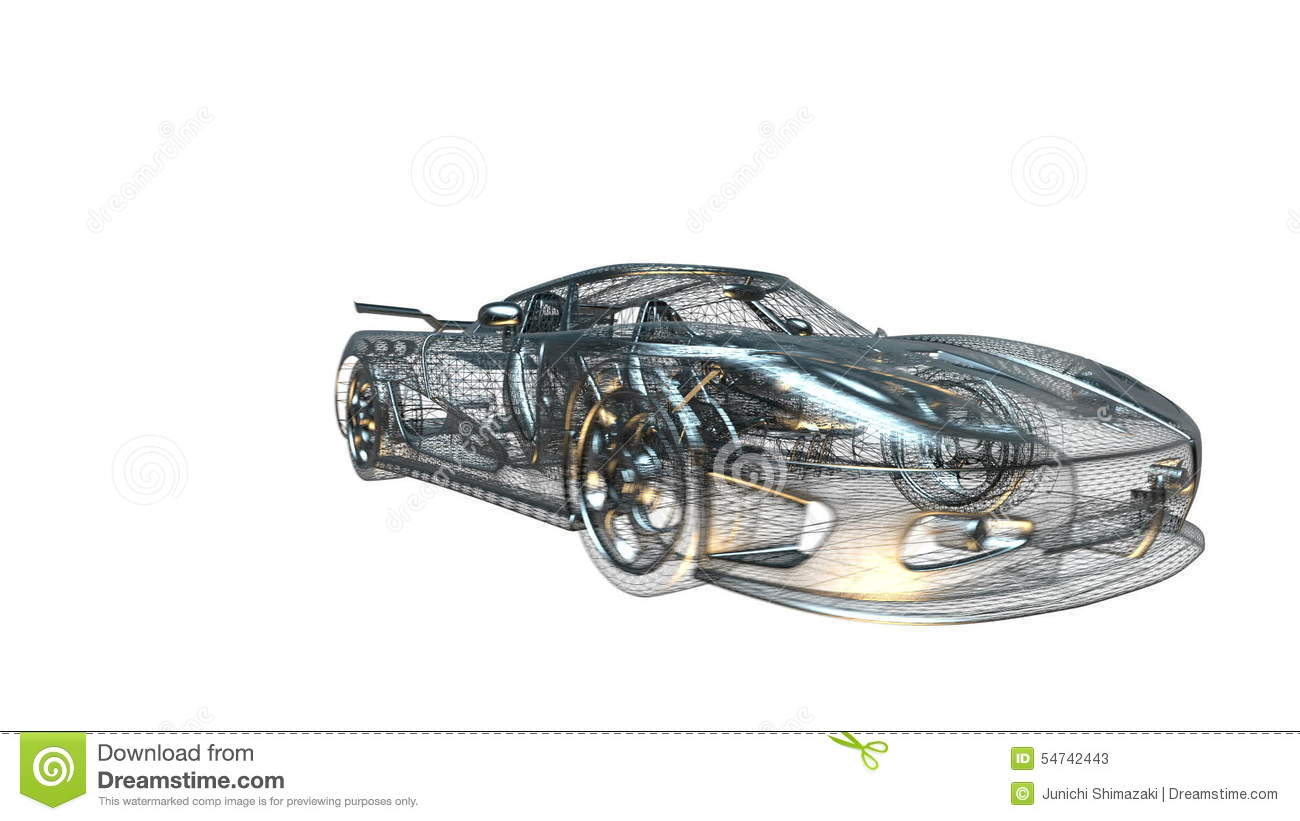 Sports car stock video. Illustration of white, background - 54742443