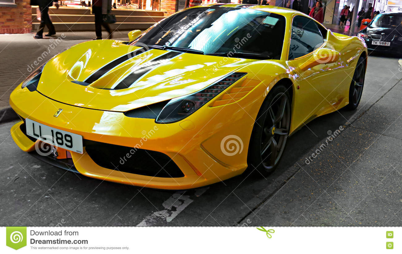 The Sports Car Yellow Ferrari 458 Editorial Photography Image Of Automotive Editorial 68161492