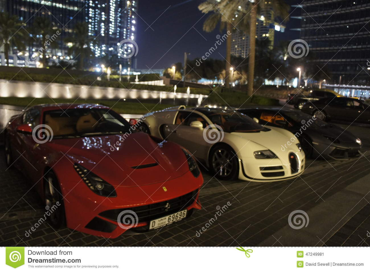 Sports Cars In Dubai Editorial Photo Image Of Sports 47249981