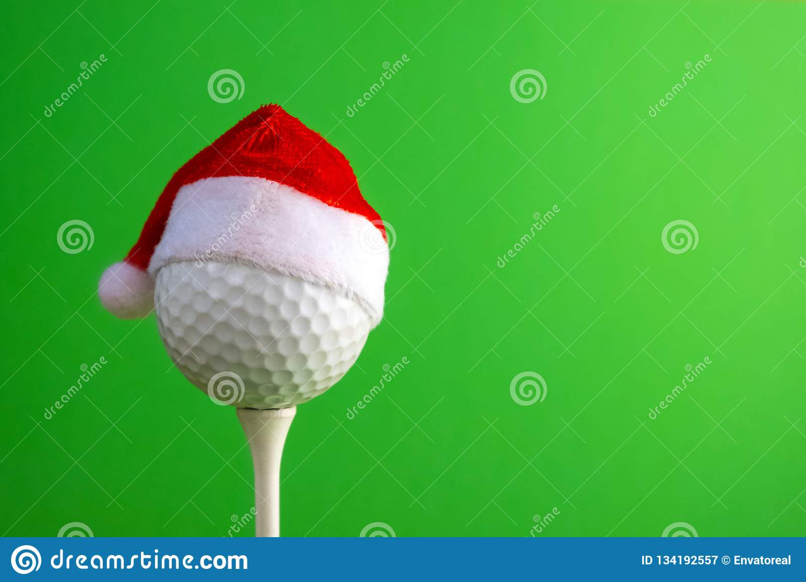 Christmas Sports Background.Sports Concept On The Topic Of Golf Christmas And New Year