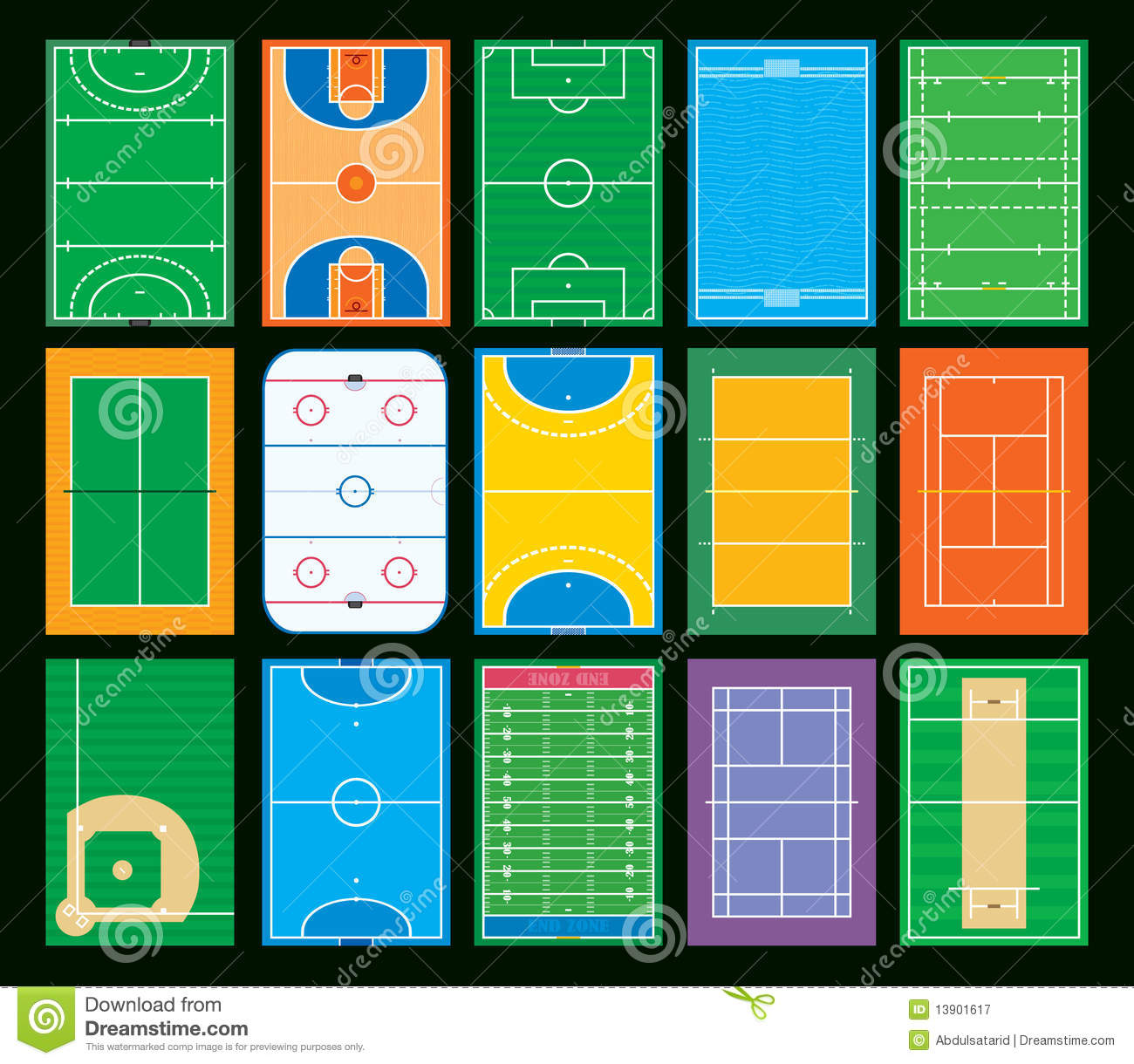 Sports Courts And Fields Royalty Free Stock Photography ...