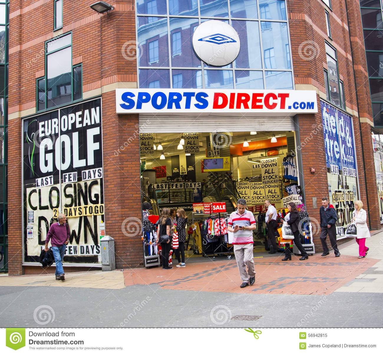 Sports Direct Shop In Leeds City Centre Editorial Image