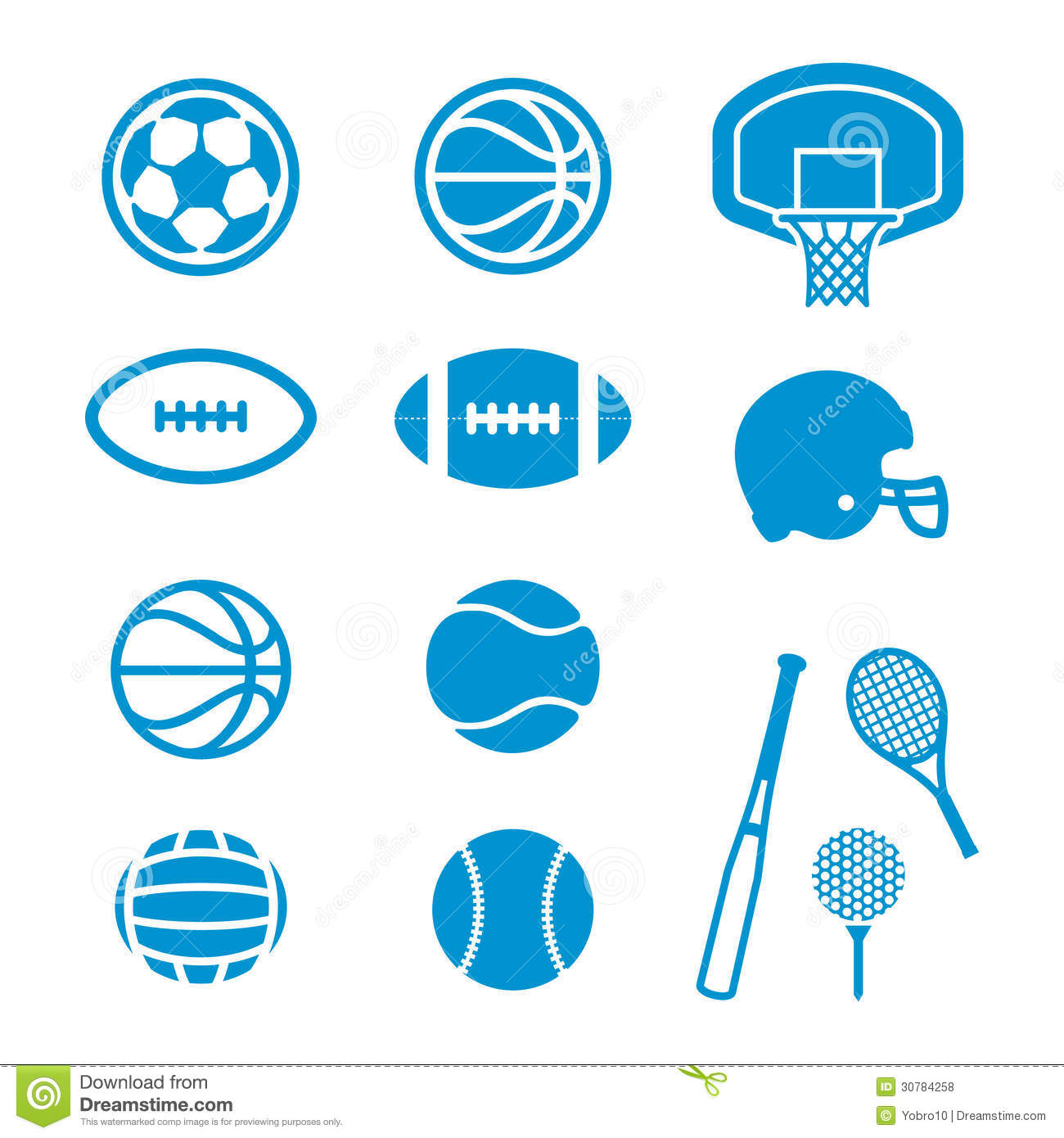 Sports Equipment And Balls Icons Royalty Free Stock Photos - Image ...