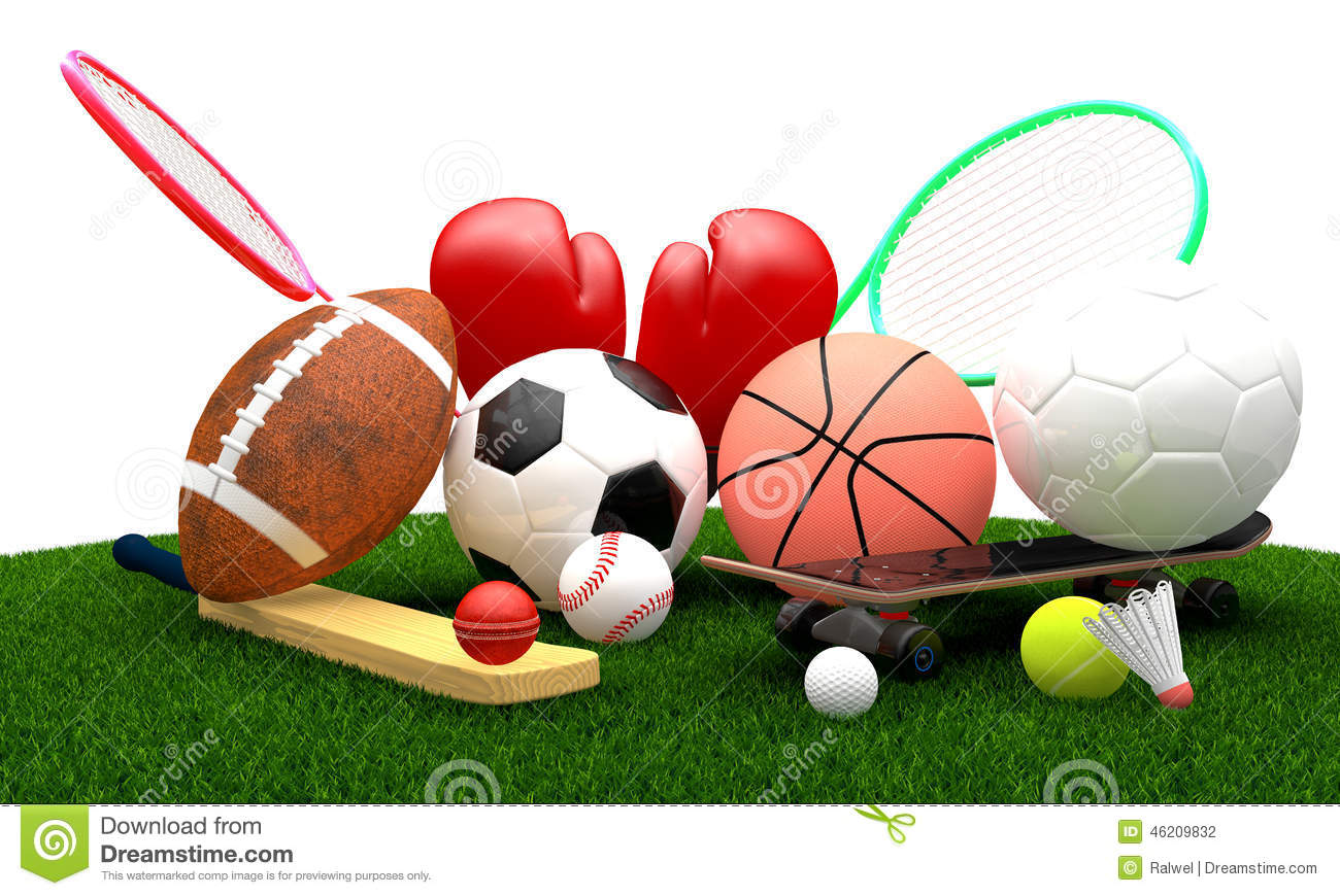 Sports equipment stock illustration image 46209832 - Sport loisir equipement ...