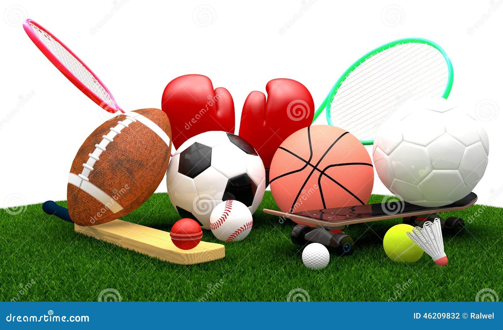 Sports Equipment Stock Illustration - Image: 46209832