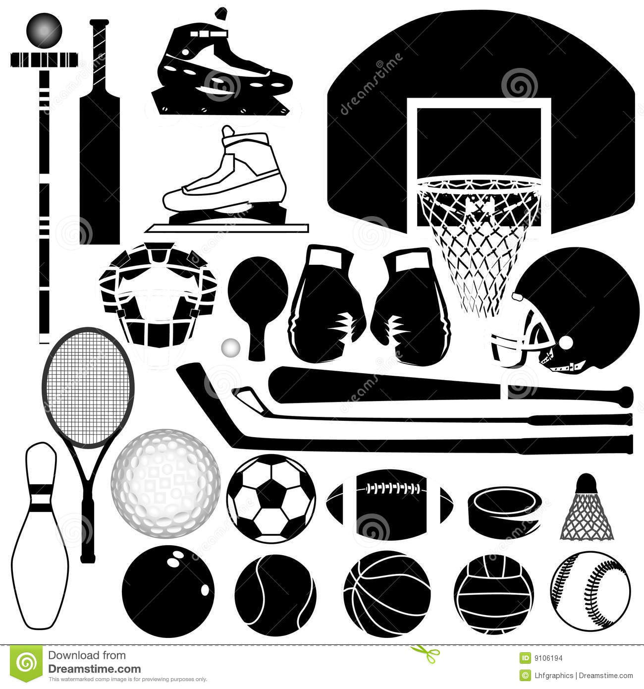 Sports Equipment Variety Stock Images - Image: 9106194