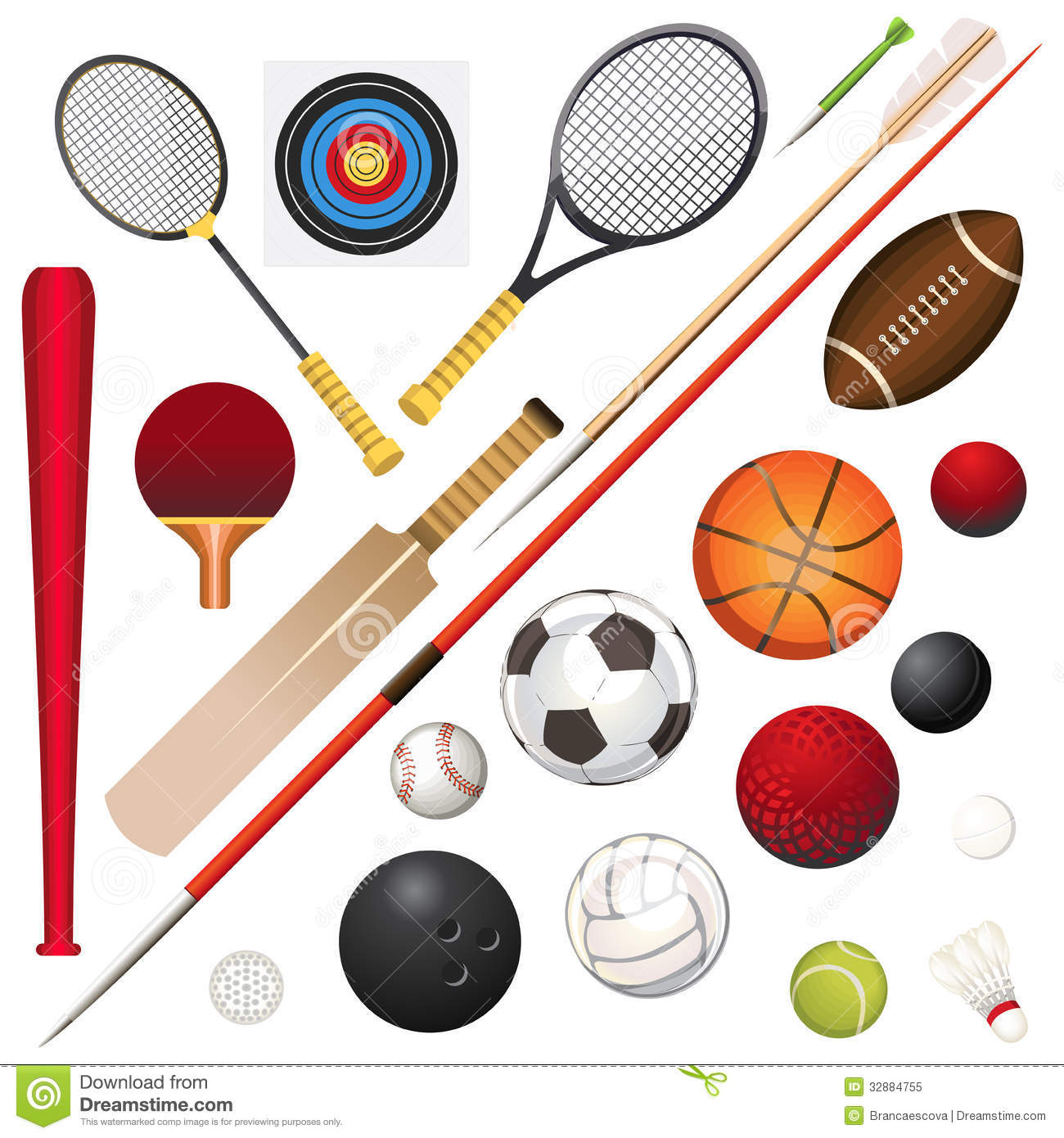 Sports Equipment Illustration 32884755 - Megapixl 2d3e87bfe