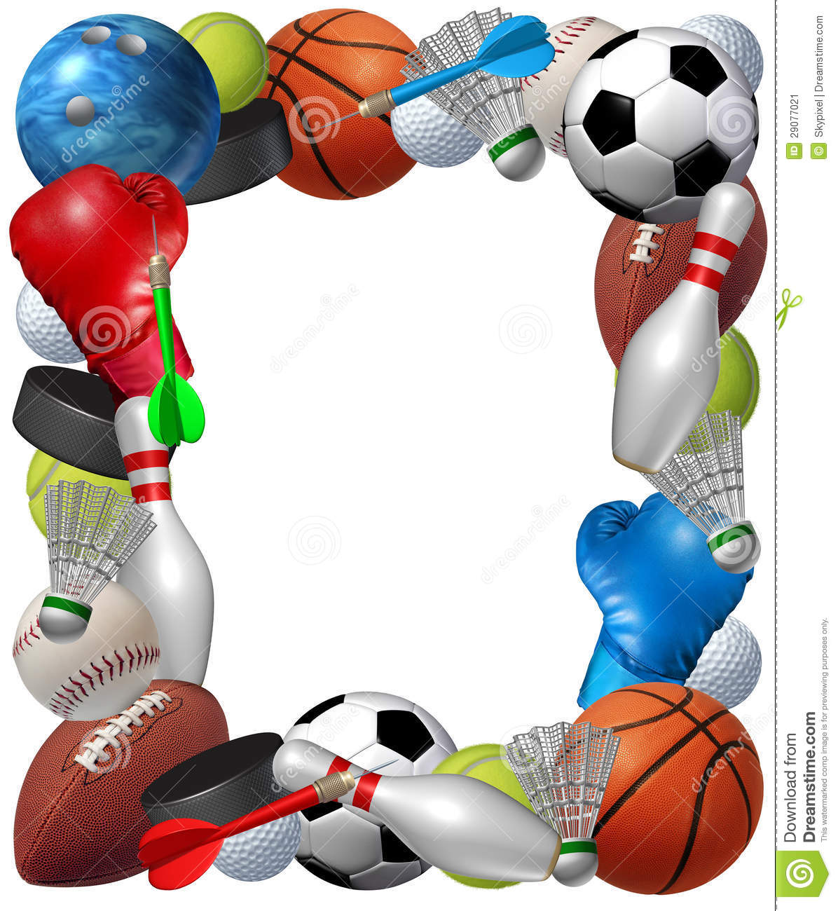 Sports: Sports Frame Stock Illustration. Image Of Frame, Baseball