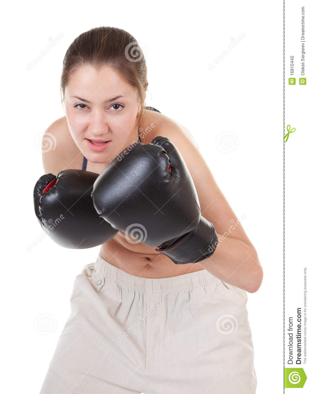 Leather Gloves Woman Stock Photos and Images