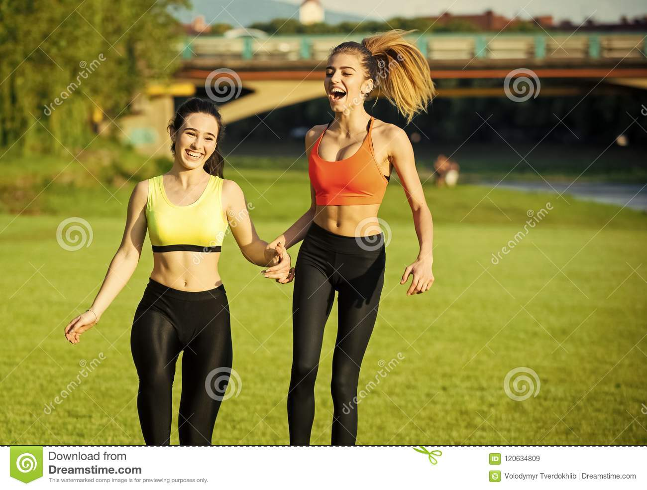 Sports Girls. Running Women Jogging In Country Stock Image - Image of  caucasian, female: 120634809