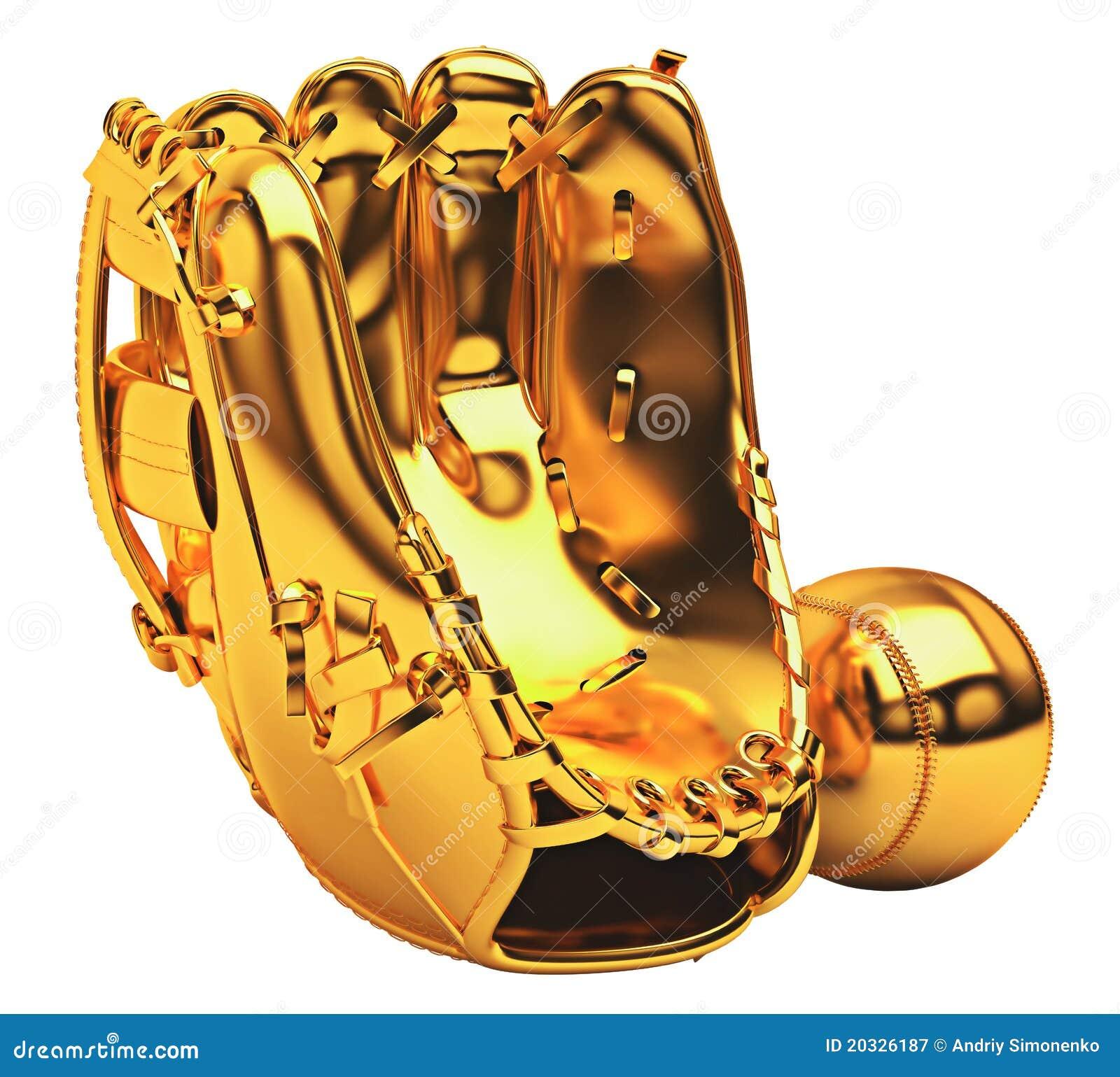Sports: Golden Baseball Glove Royalty Free Stock ...