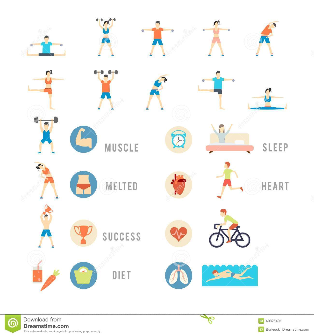 Sports And Health People Illustrations Stock Vector ...