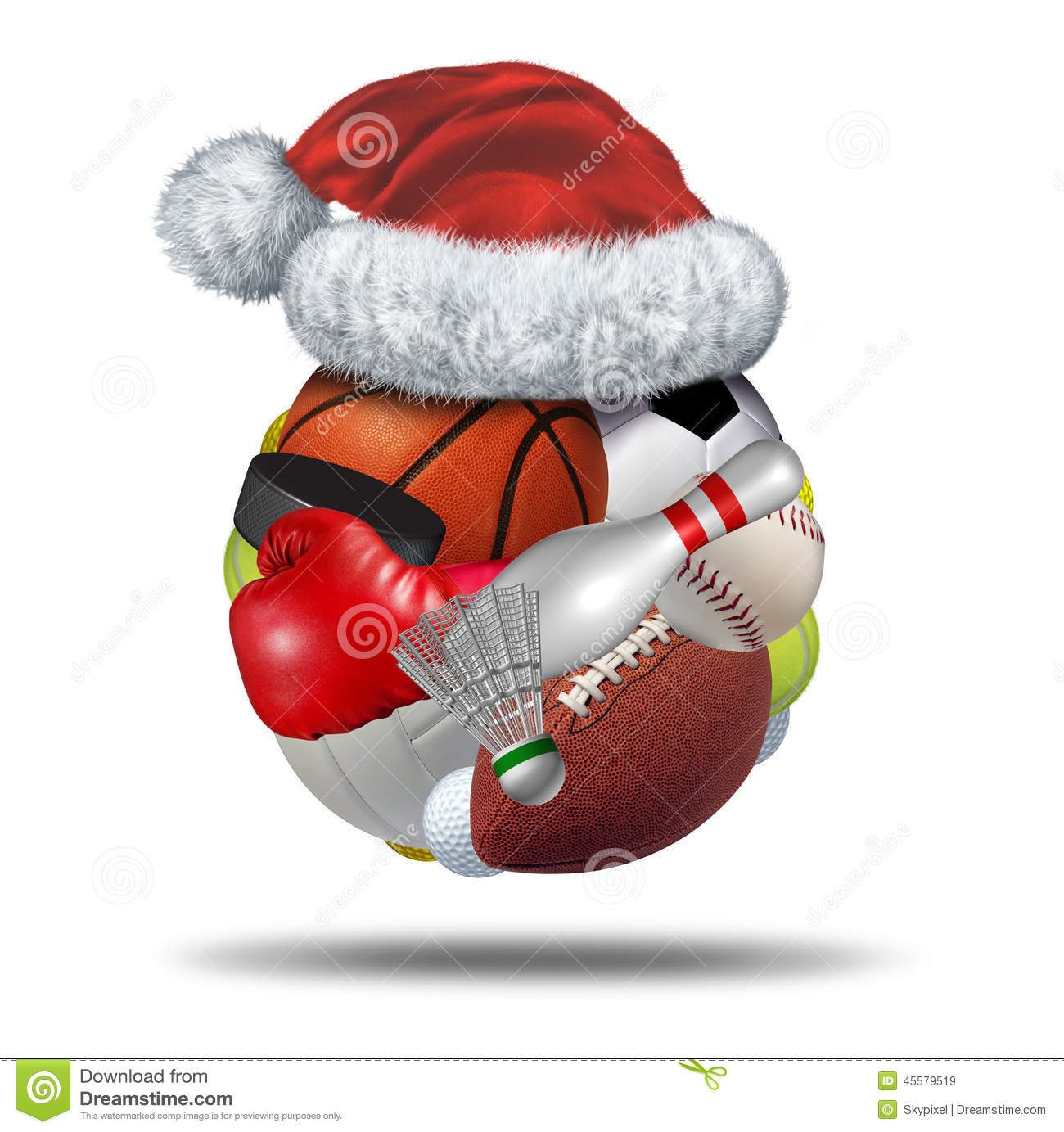 Sports Holiday Gift Stock Illustration - Image: 45579519