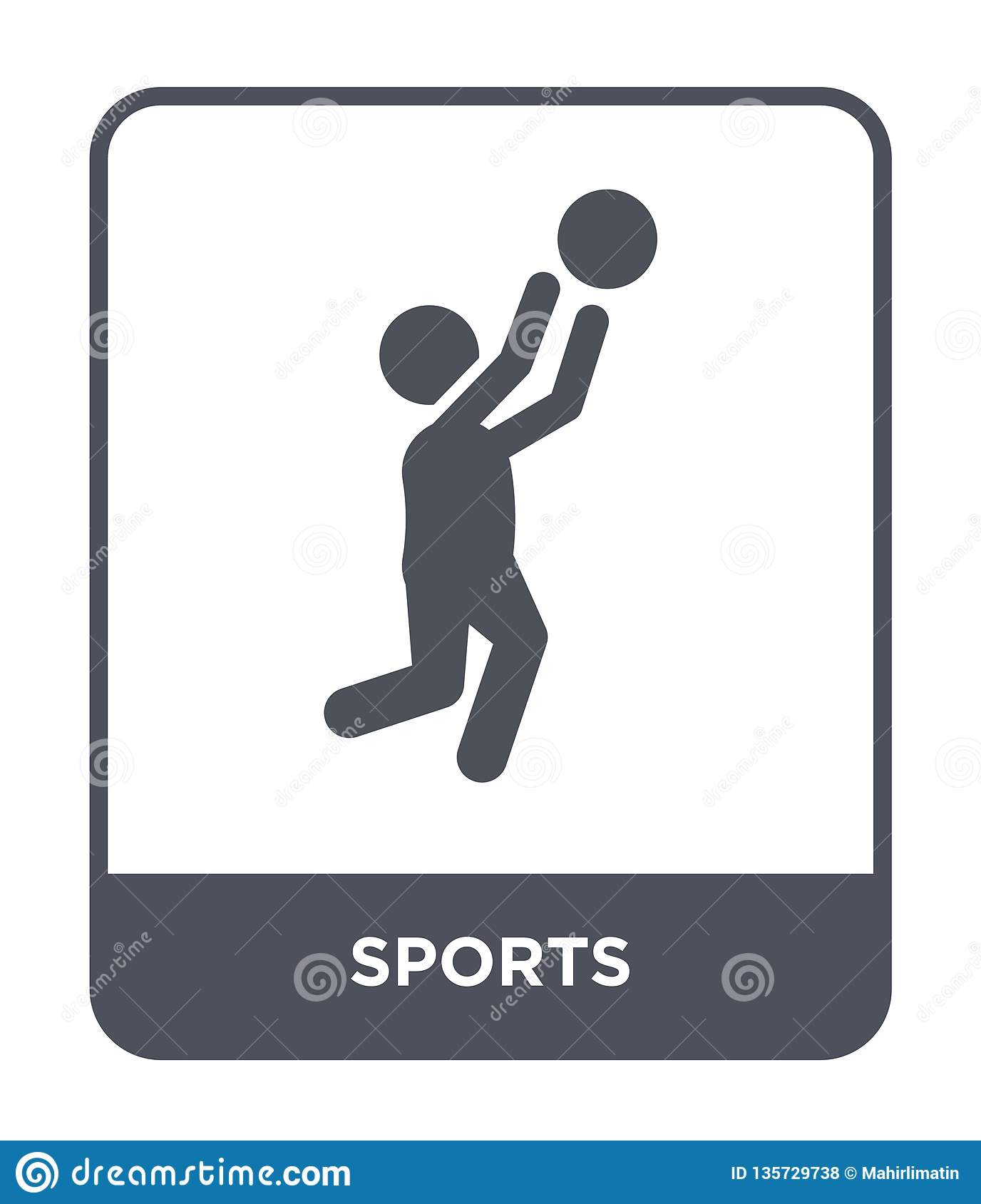 sports icon in trendy design style. sports icon isolated on white background. sports vector icon simple and modern flat symbol for