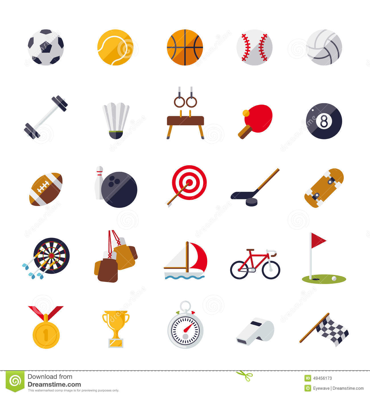 sports icons flat design isolated vector set stock vector bowling pins vector images bowling pins vector 4k images