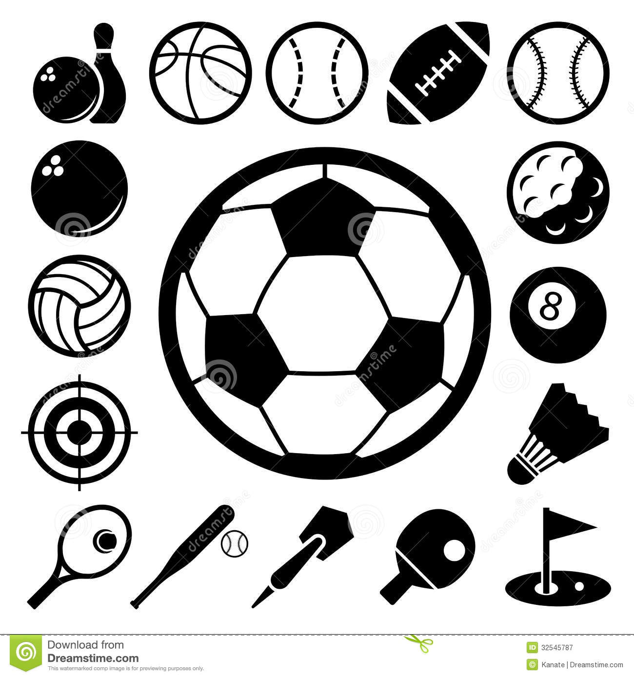 Royalty Free Stock Photography Sports Icons Set Illustration Eps Image32545787 on baseball vector graphics