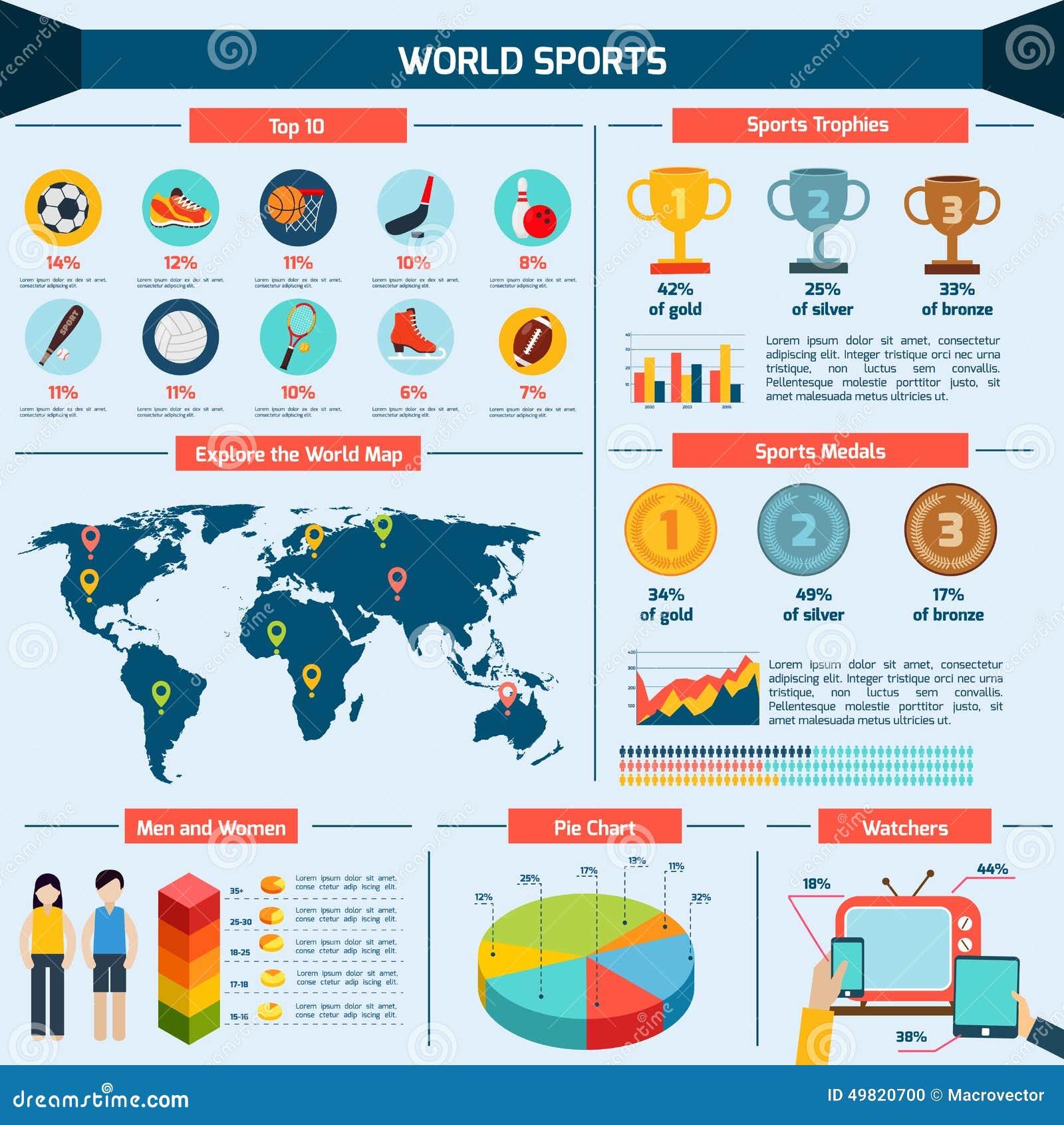 Sports Infographics Set Stock Vector Image 49820700