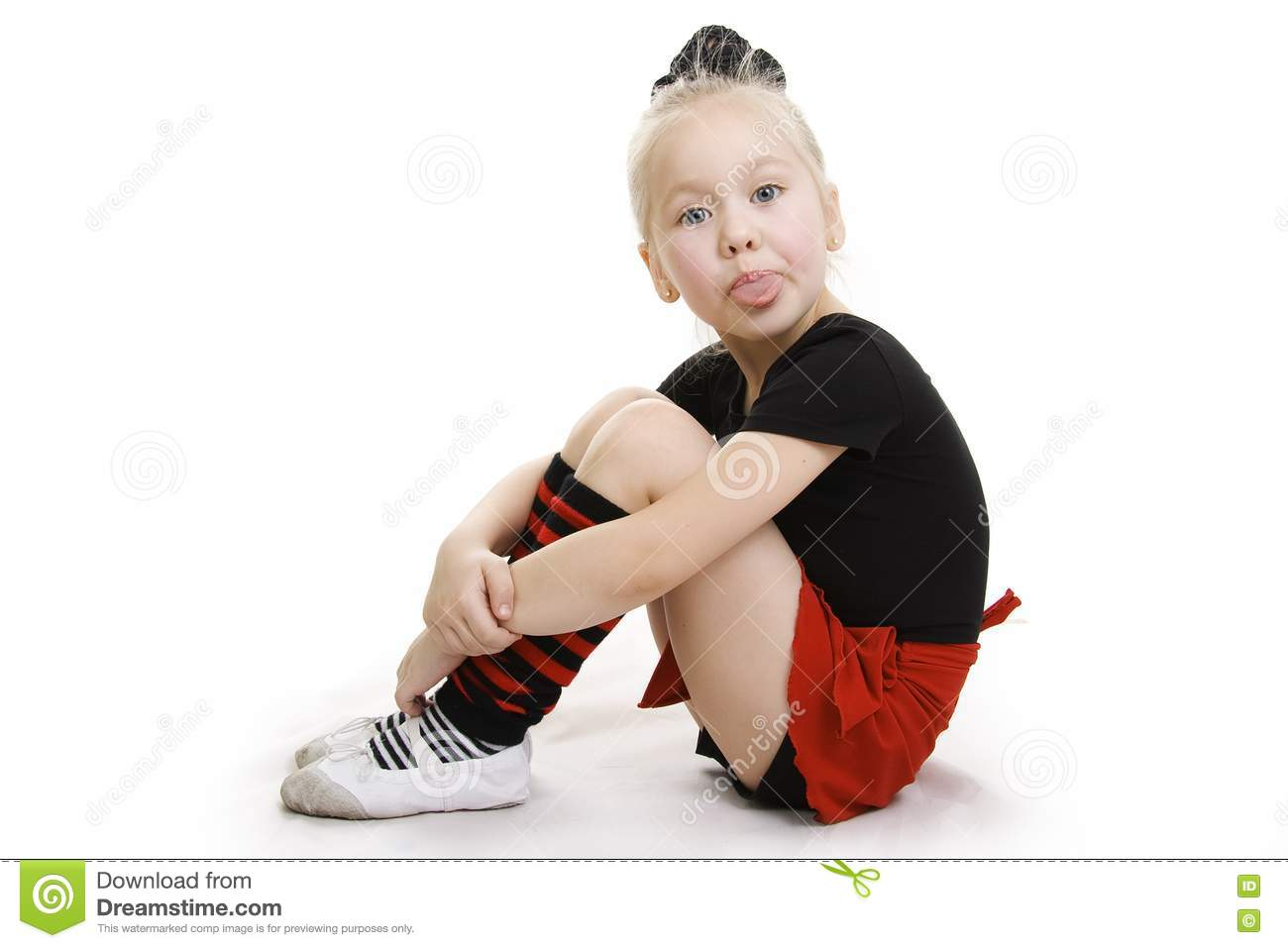 Sports Little Girl Stock Image Image 14662521