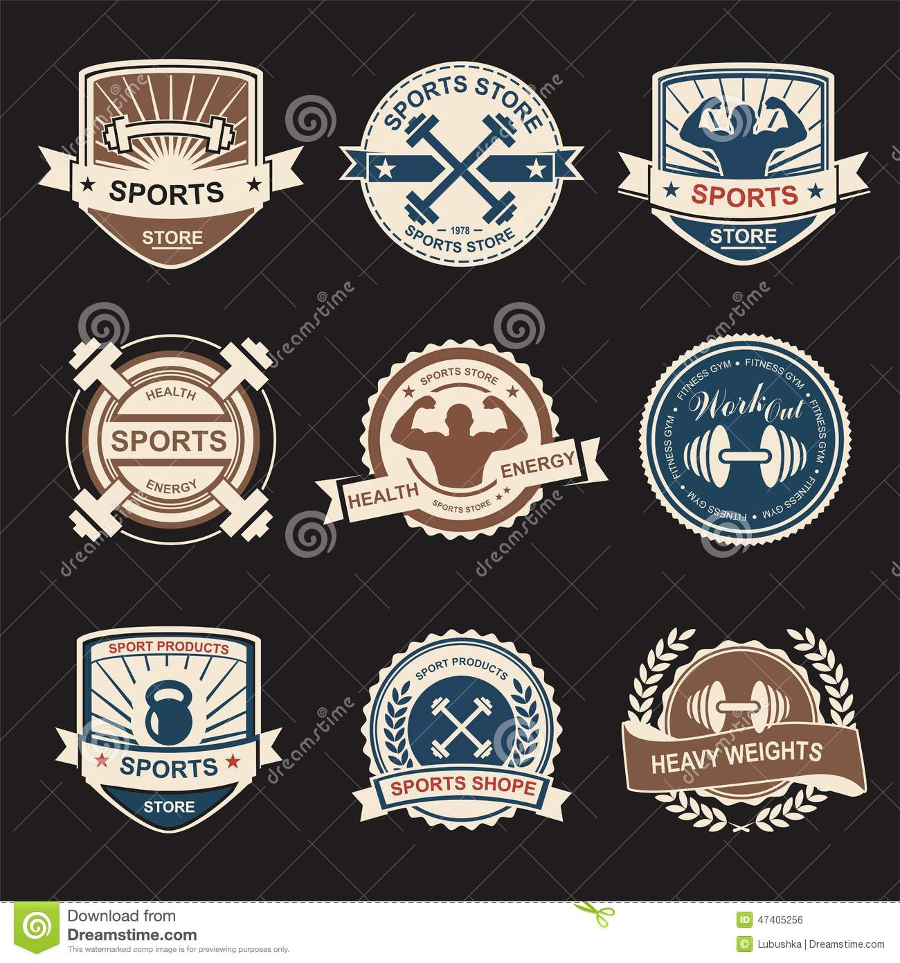 Sports logo stock vector  Illustration of shop, elite - 47405256