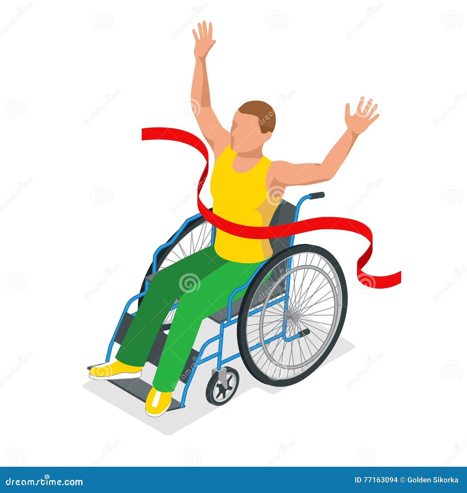 Sports olympiques isométriques pour des peuples avec l activité handicapée Sportifs handicapés de compétitions sportives Vecteur