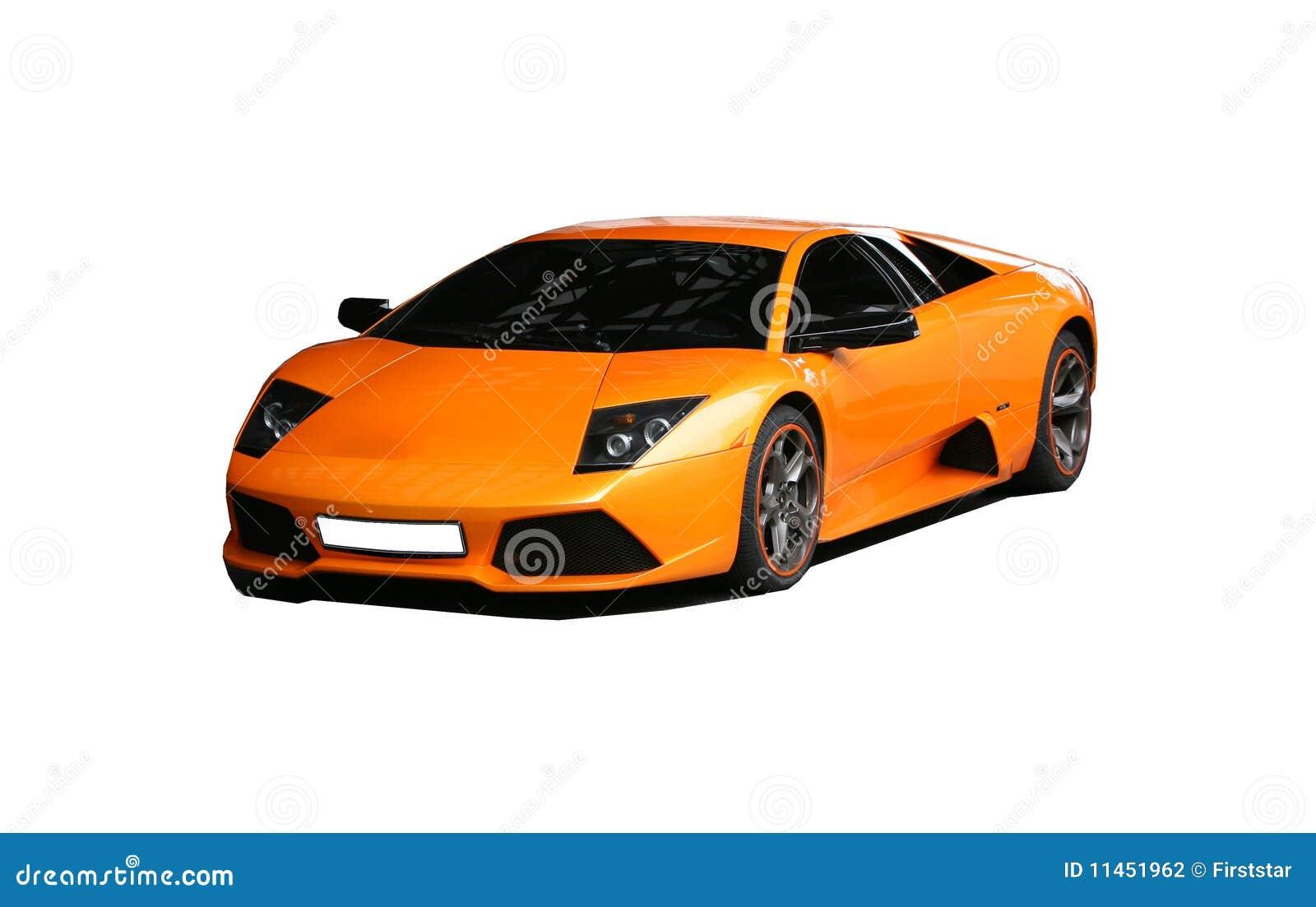Sports Orange Car Stock Photography Image 11451962