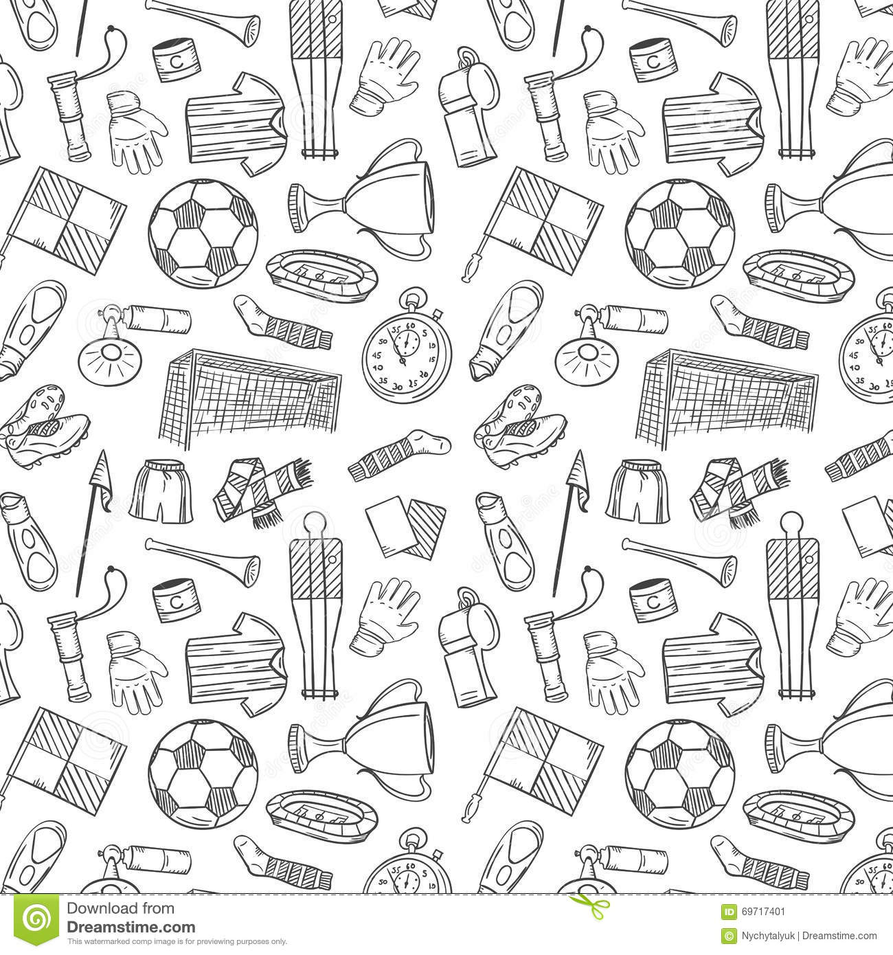 Sports pattern with soccerfootball symbols in hand draw style sports pattern with soccerfootball symbols in hand draw style buycottarizona Images