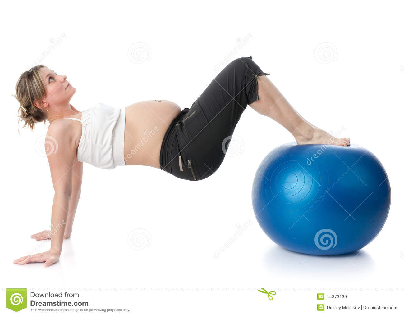 Sports Pregnant Young Woman. Royalty Free Stock Images ...