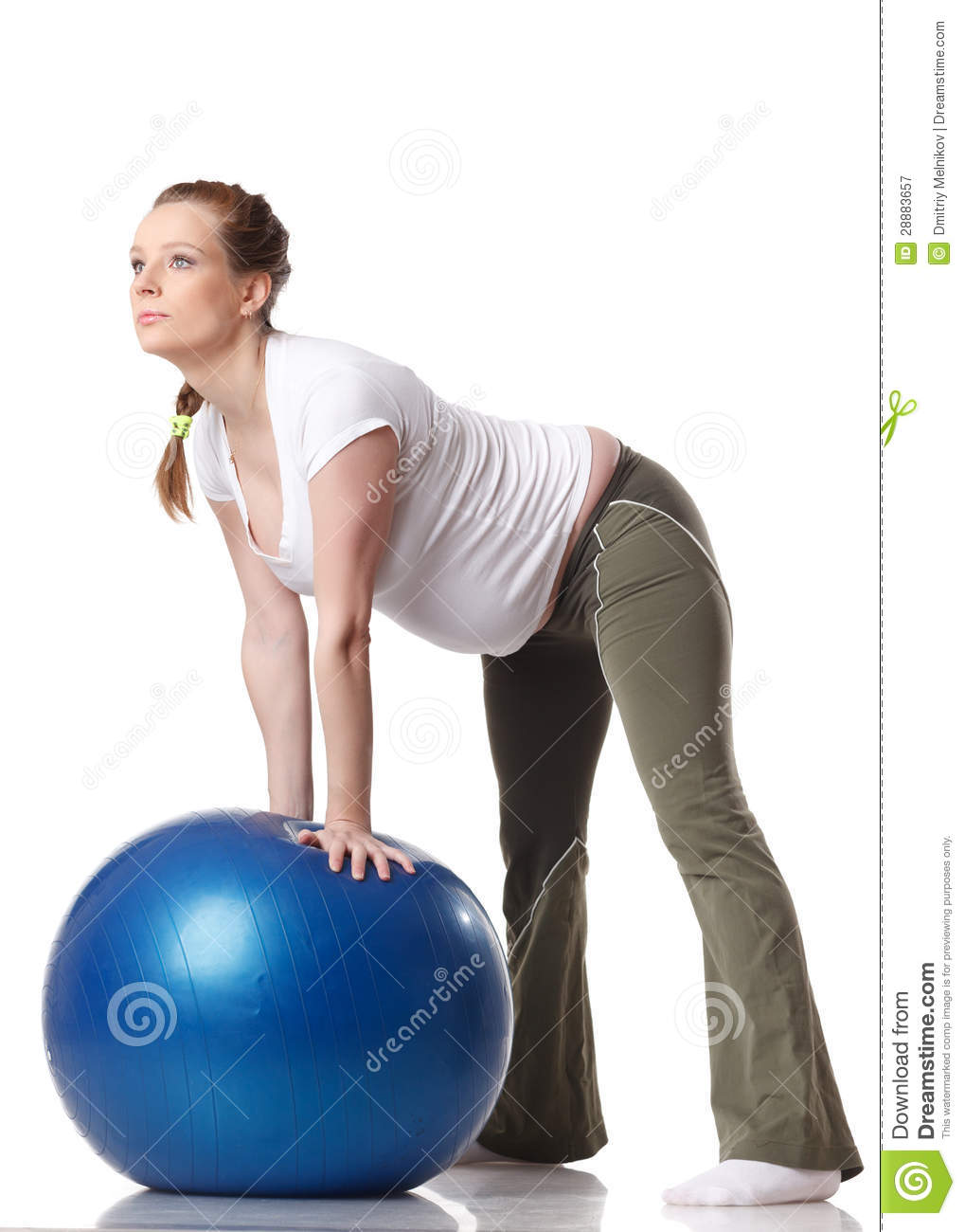 Sports Pregnant Young Woman. Fitness. Royalty Free Stock ...