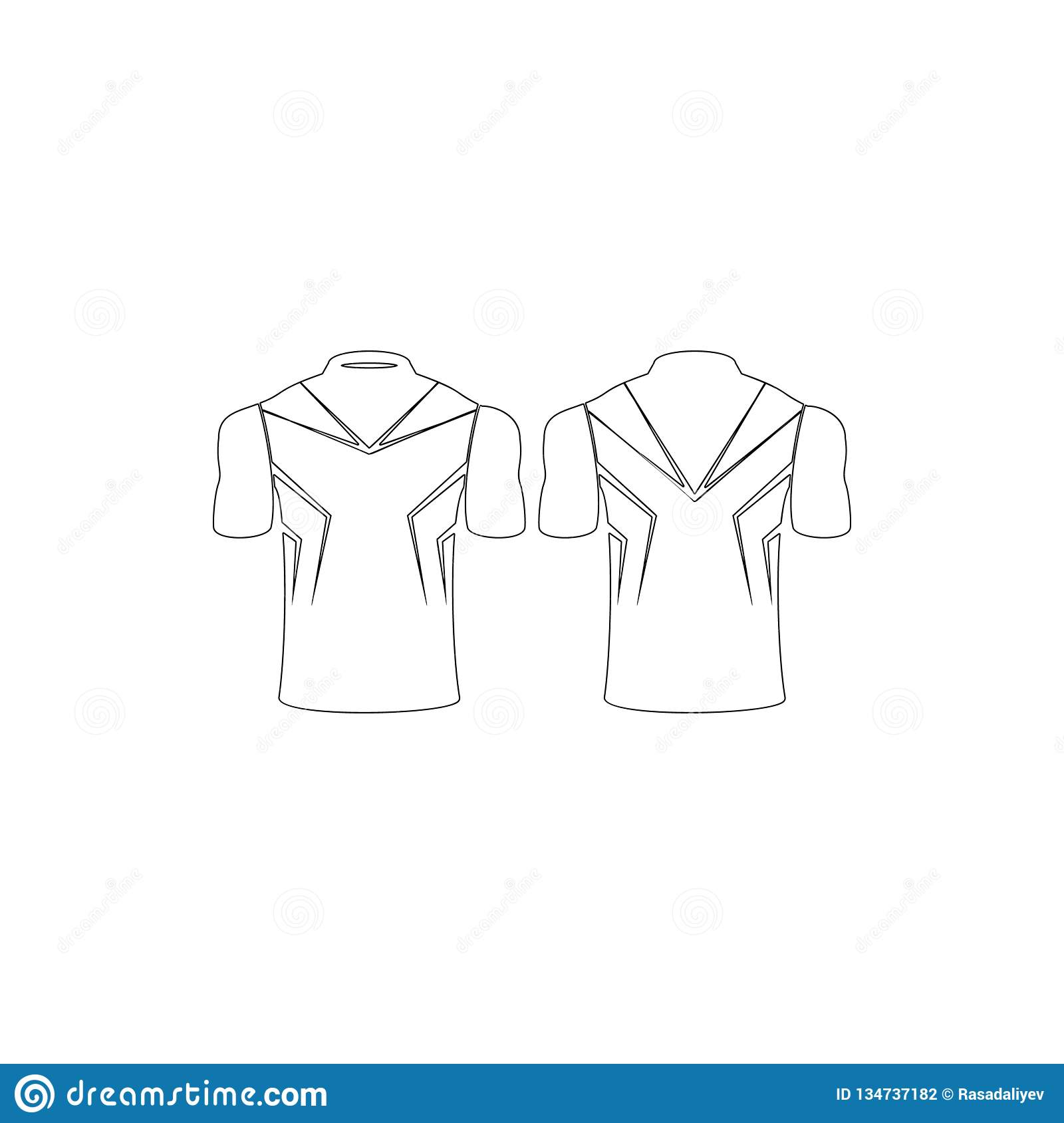 Sports Shirt Icon Element Of T Shirt For Mobile Concept And Web Apps Icon Thin Line Icon For Website Design And Development App Stock Illustration Illustration Of Clothes Textile 134737182