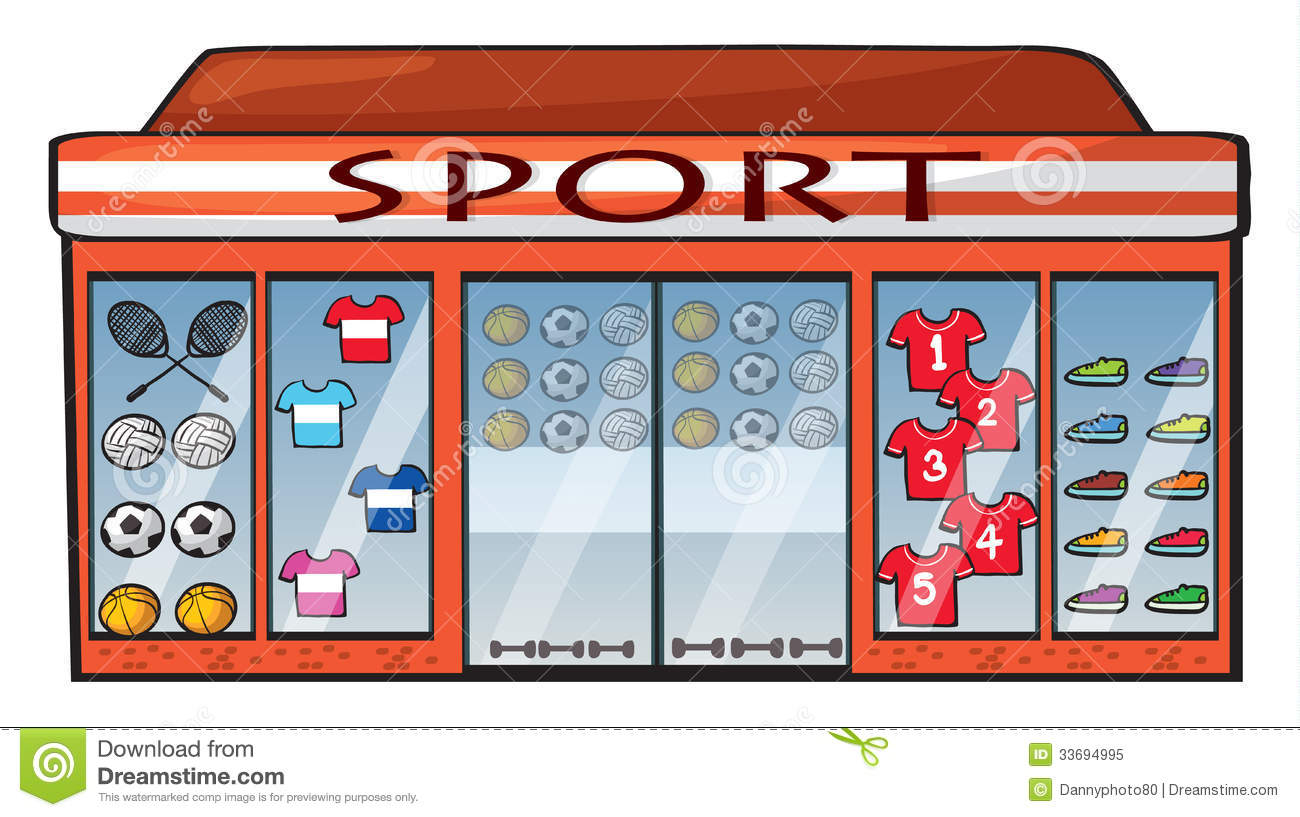 Sports Shop Royalty Free Stock Photo - Image: 33694995