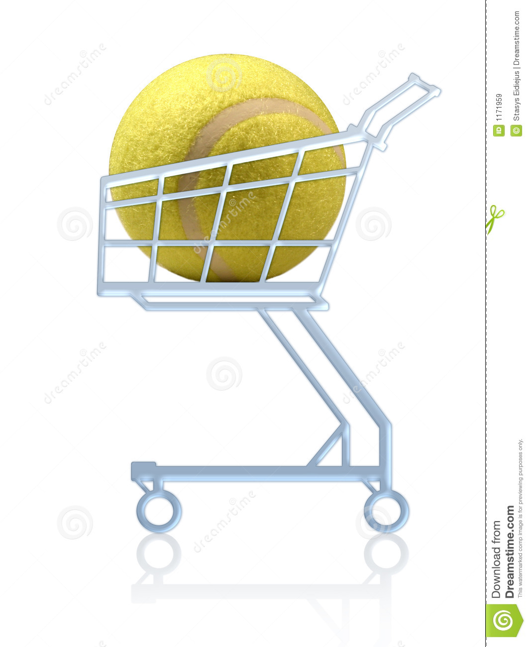 Sports Shopping. Tennis Ball In A Shopping Cart Stock Image - Image ... 1d059777a