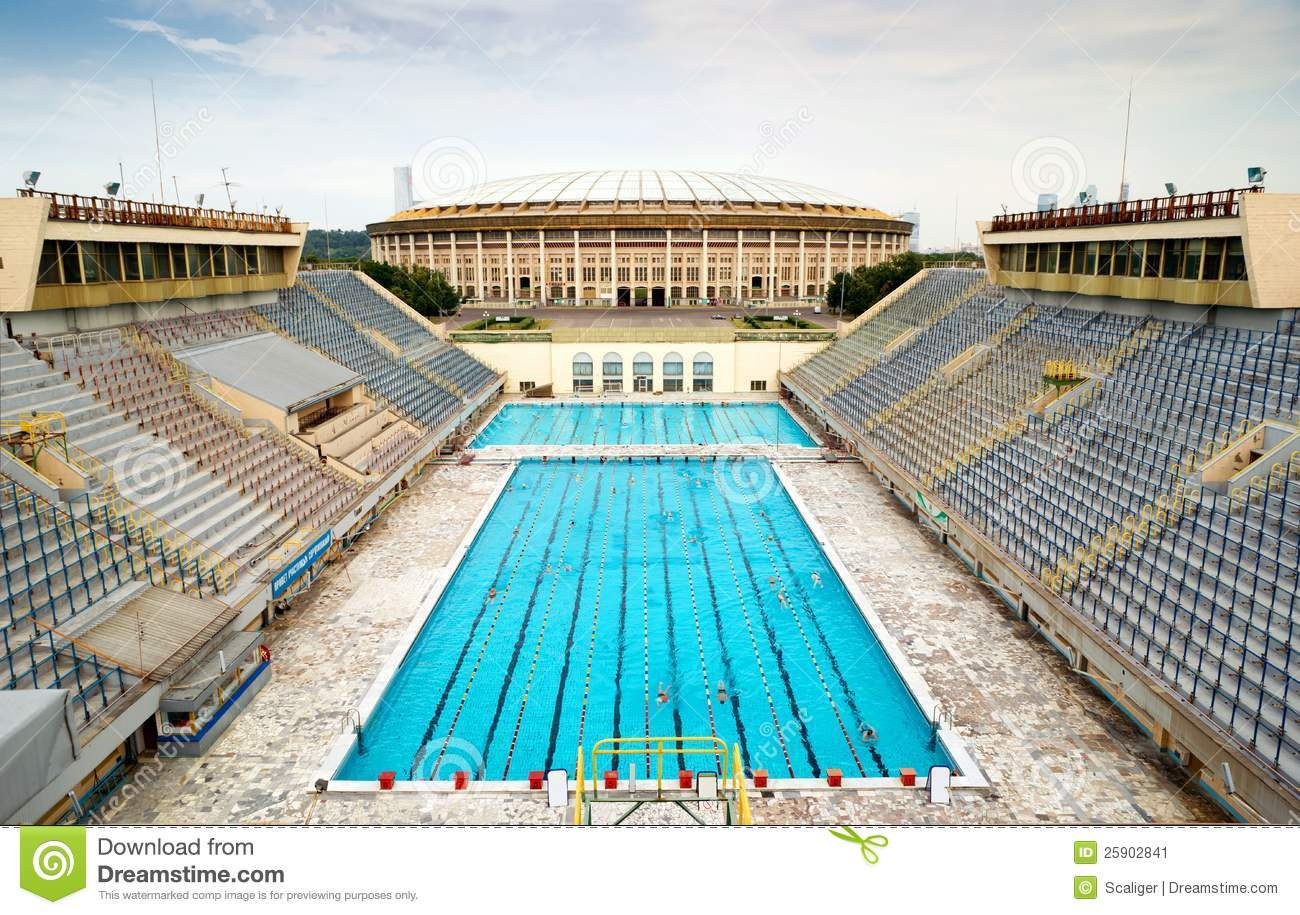Sports Swimming Pool In Moscow Stock Image Image 25902841