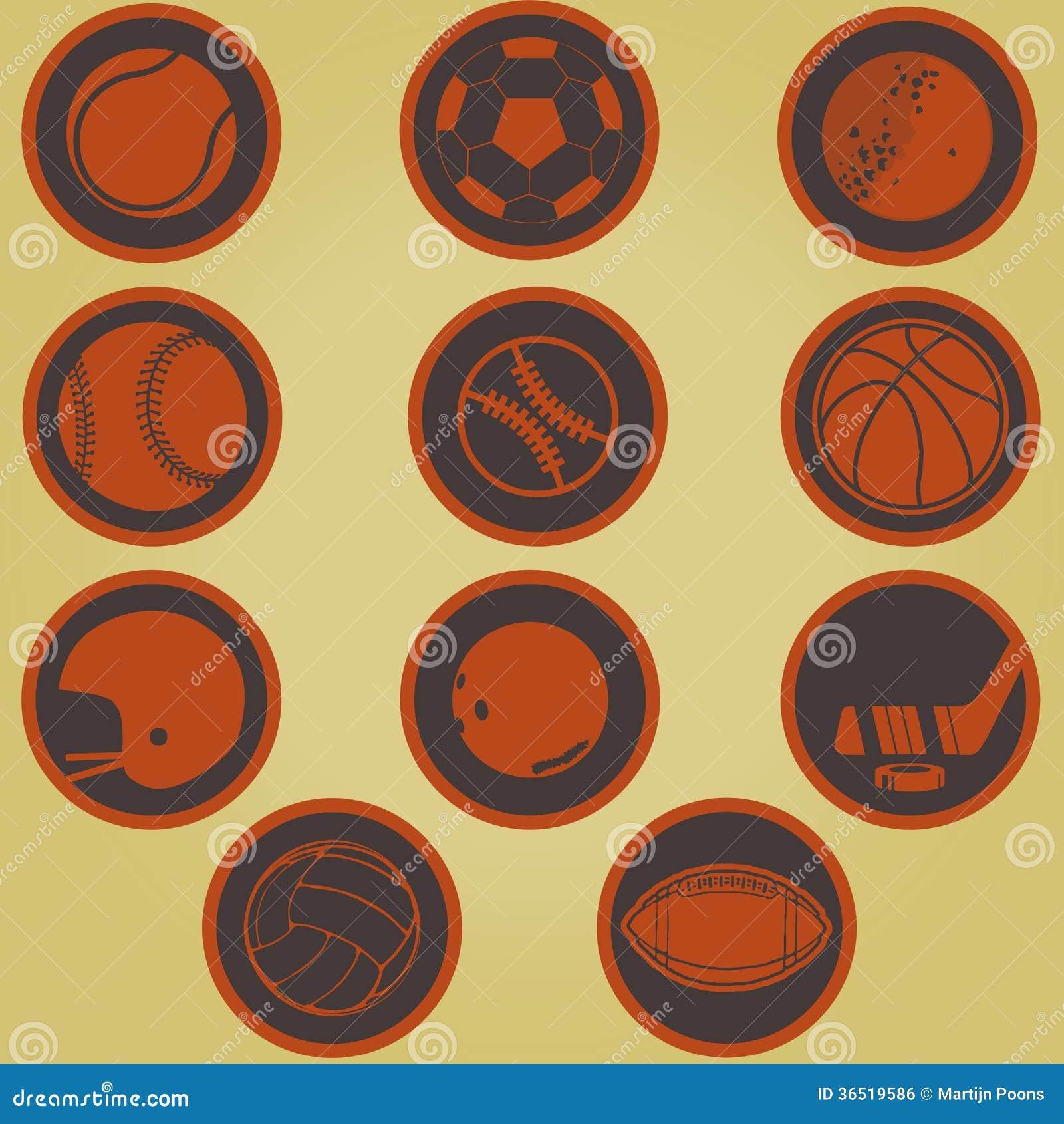 sports symbols royalty free stock image image 36519586