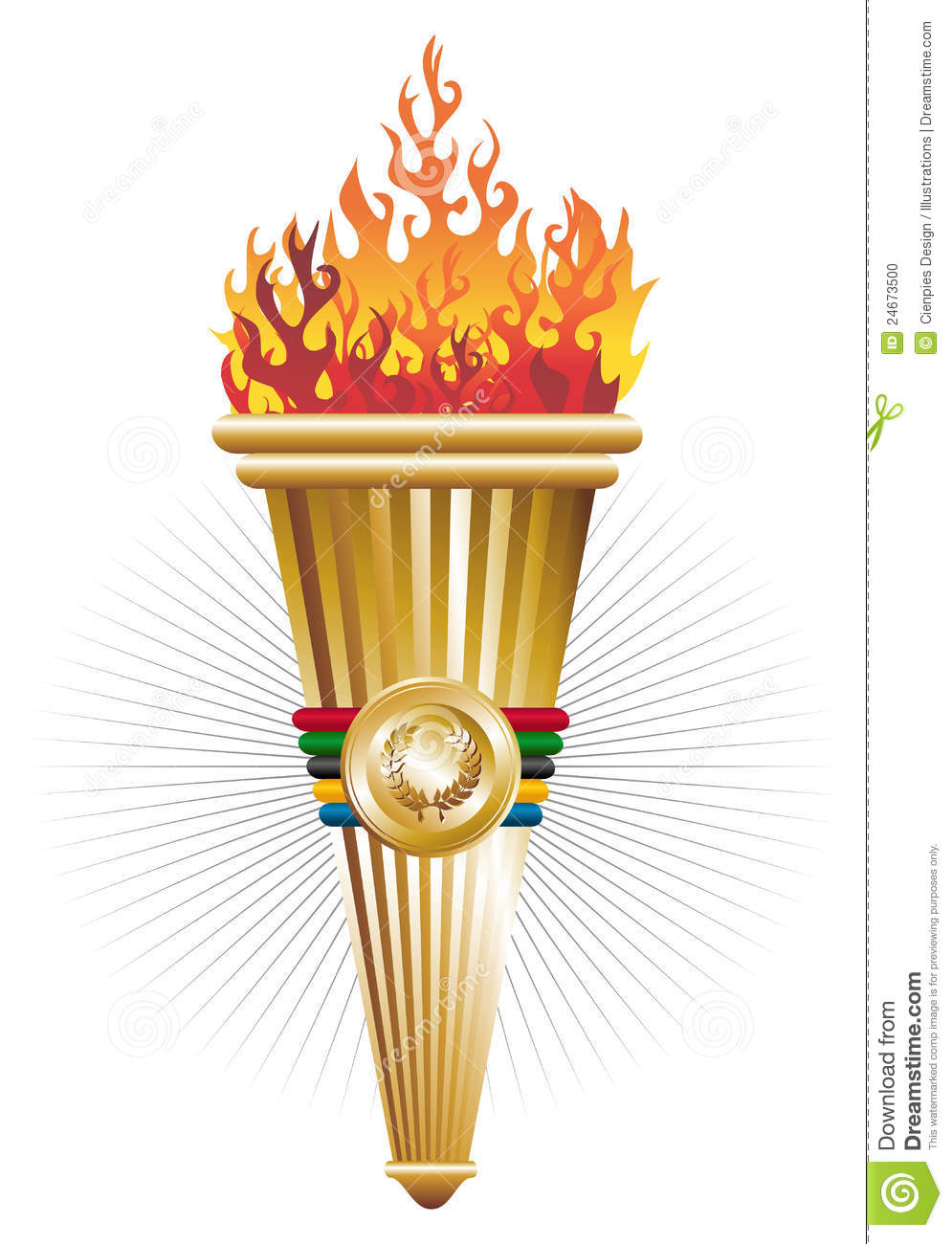 Sports torch of triumph illustration. Vector file layered for easy ... Quailman And Patty Mayonnaise